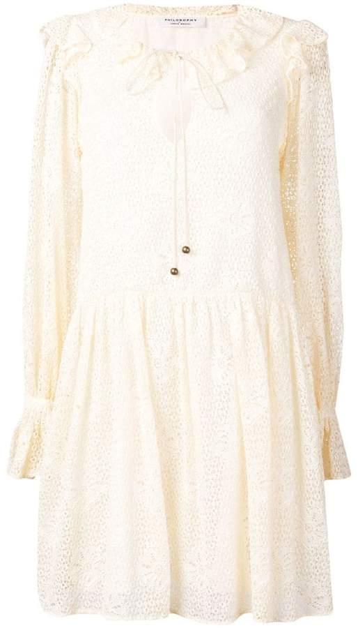 Philosophy Di Lorenzo Serafini boho lace dress