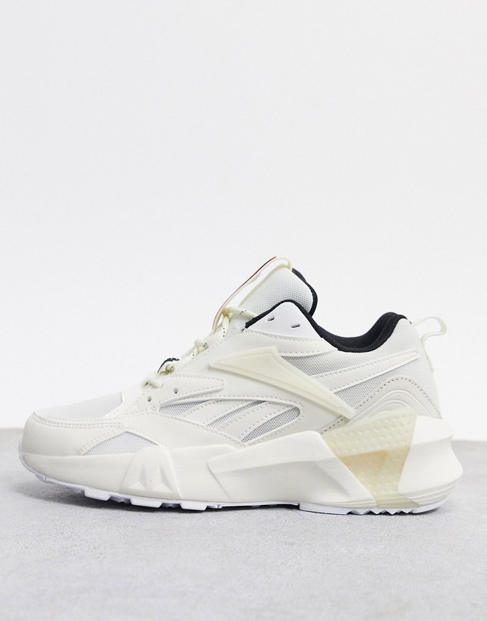 Reebok Aztrek Double trainers in white and chalk