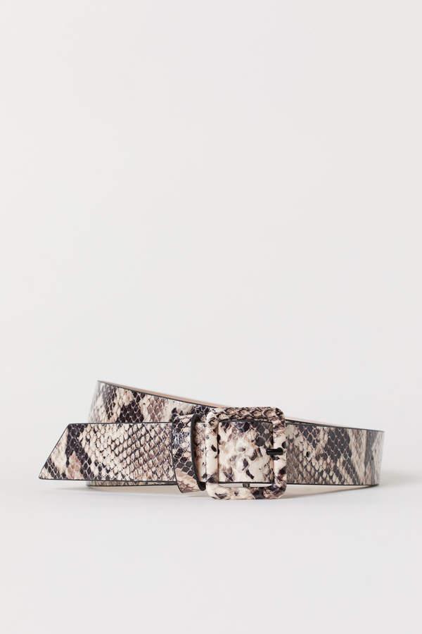 H&M Snakeskin-patterned belt