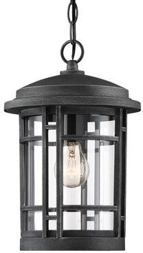 cardin weathered pewter 1 bulb 13 75 h outdoor hanging lantern
