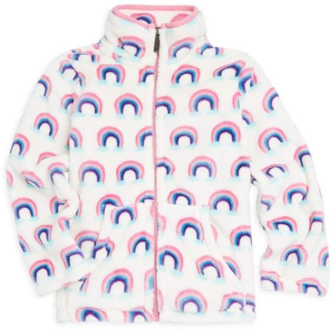 Hatley Little Girl's & Girl's Fleece Rainbow Jacket