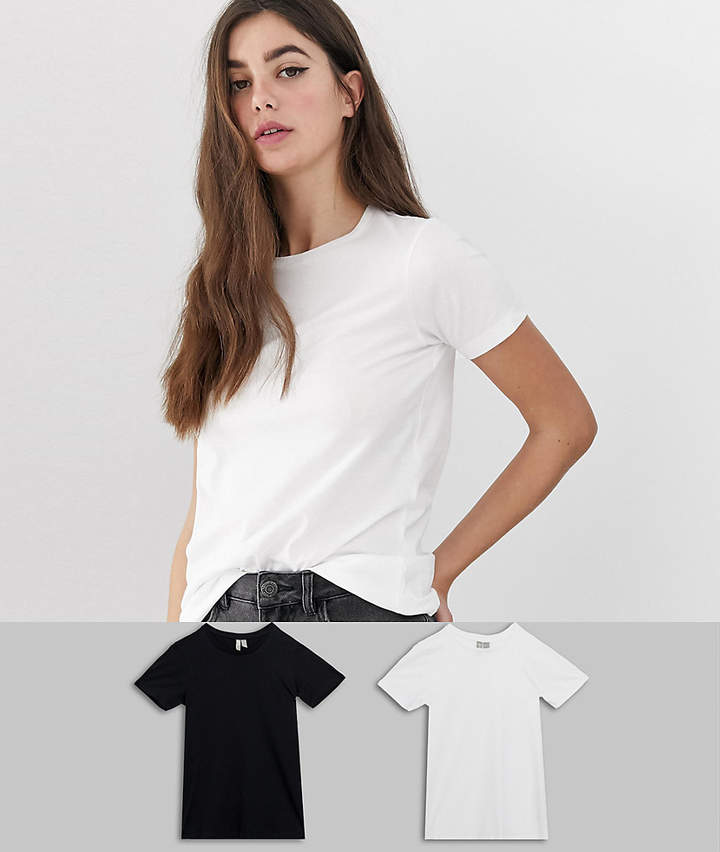 Asos Tall ASOS DESIGN Tall ultimate t-shirt with crew neck in 2 pack SAVE