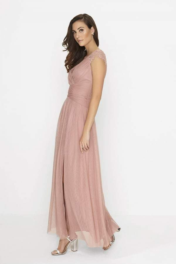 Little Mistress Apricot Maxi Dress