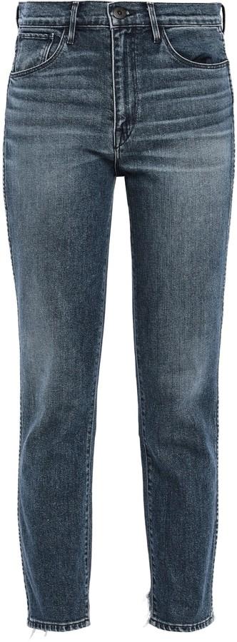 3x1 W3 Distressed High-rise Slim-leg Jeans