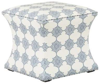 Courbe Ottoman in Larissa Blue and Downey Blue Welt - Stocked