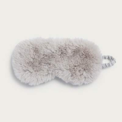 The White Company Fluffy Sleep Eye Mask, Pale Grey, One Size