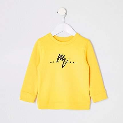 Mini boys Yellow print sweatshirt
