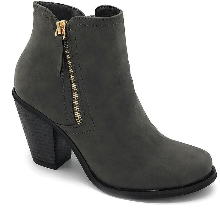 J. Mark Women's Casual boots GREY - Gray Gold-Zip Irene Ankle Boot - Women