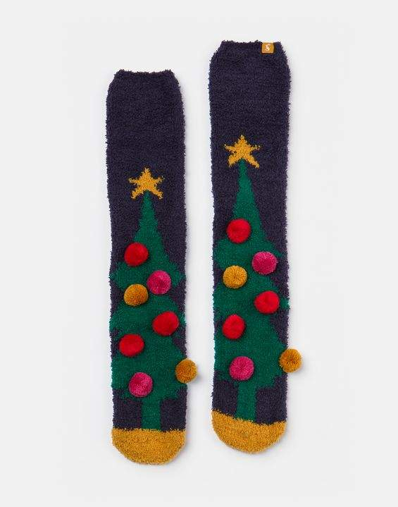 Joules Christmas Fluffy Socks