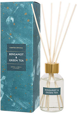 John Lewis & Partners Bergamot & Green Tea Reed Diffuser, 100ml