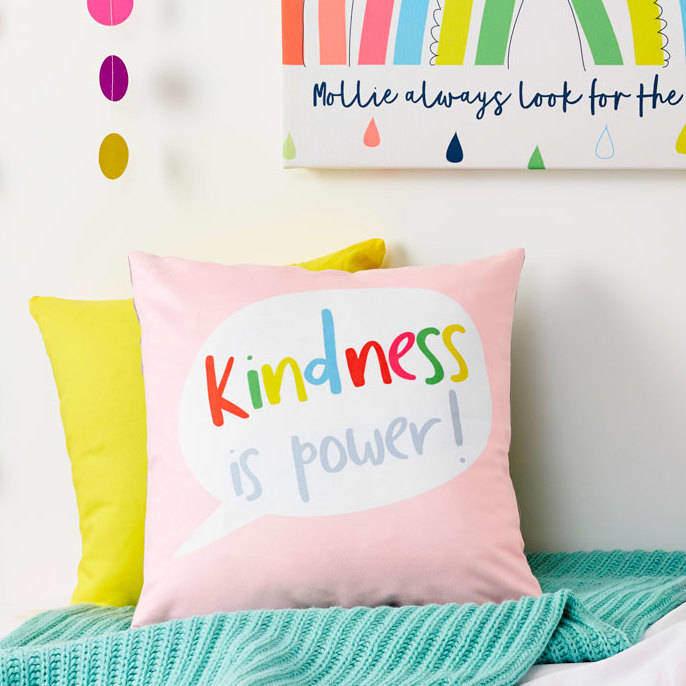 TillieMint Children's Rainbow Quote Cushion