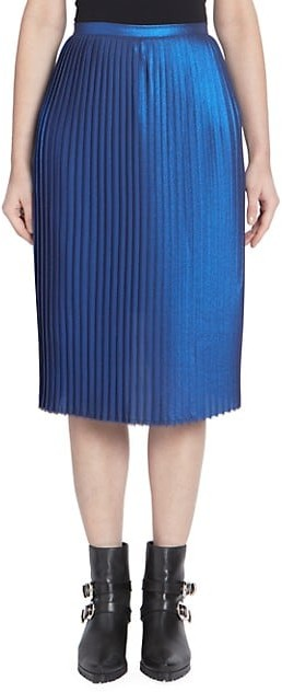 Each X Other Metallic Accordion Pleated Skirt