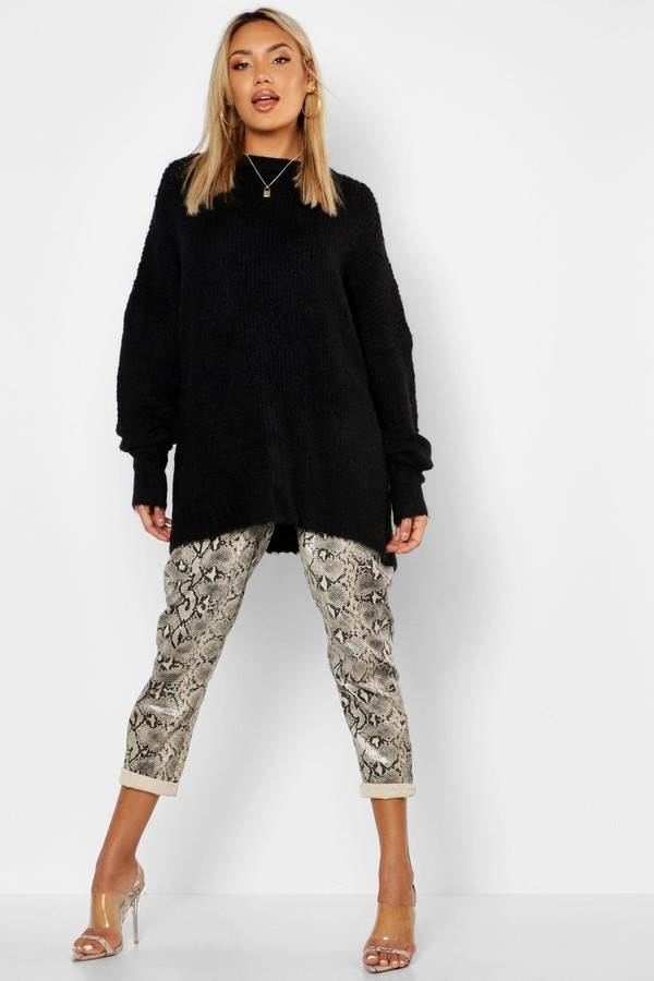 Oversized Rib Knit Boyfriend Jumper