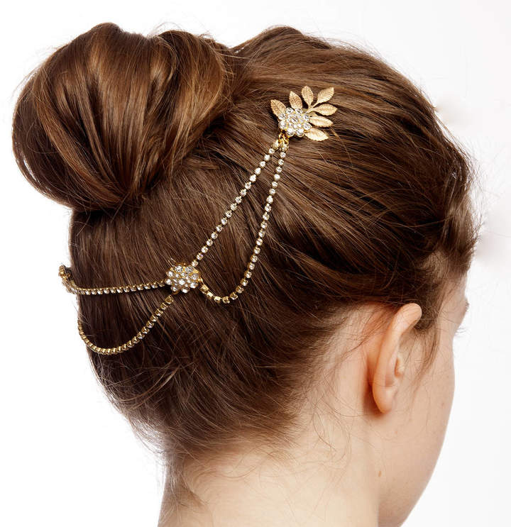 Rose Red Accessories Handmade Wedding Headpiece With Gold Leaves