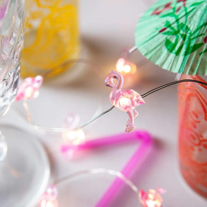 Lights4fun 10 Flamingo Micro Fairy Lights