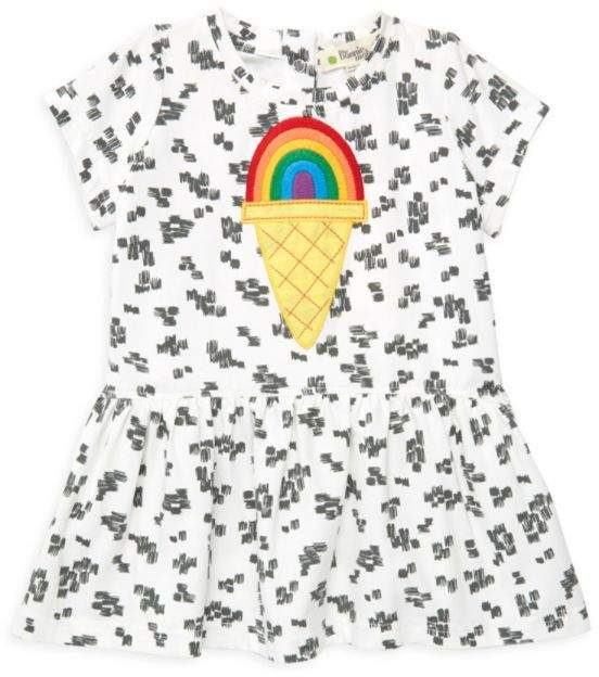 The Bonnie Mob Baby Girl's Organic Cotton Rainbow Motif Dress