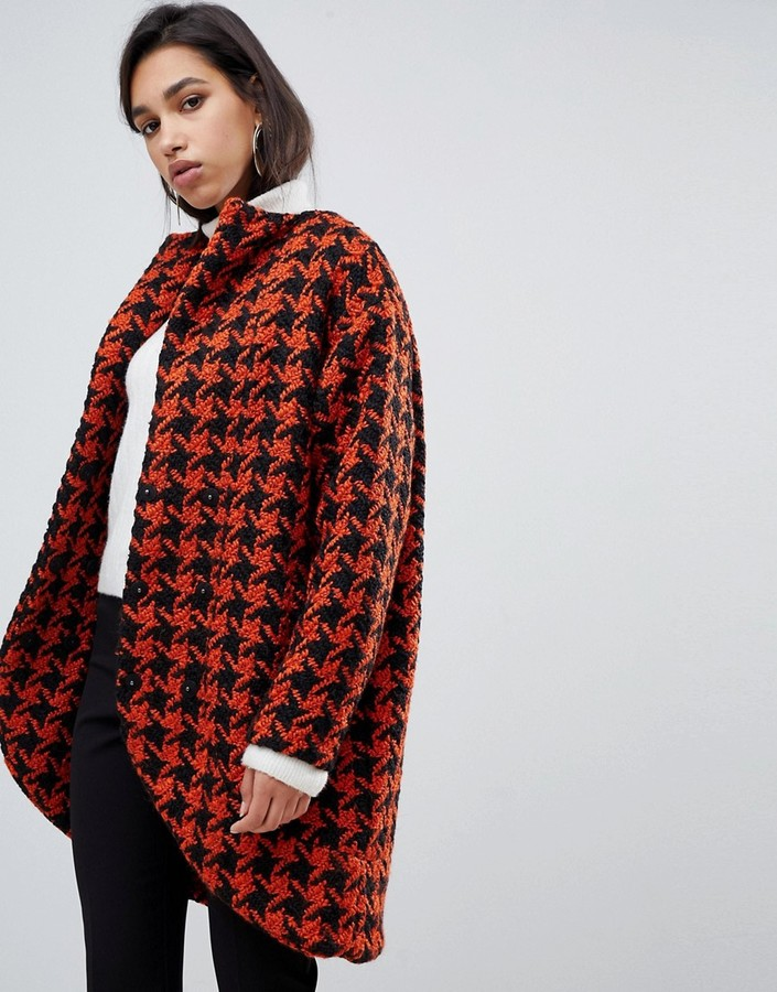 Y.A.S dogtooth oversized coat