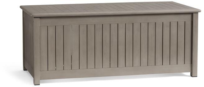 chatham fsc mahogany storage bench gray