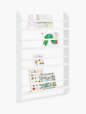 Great Little Trading Co Greenaway Skinny Gallery Bookcase, White