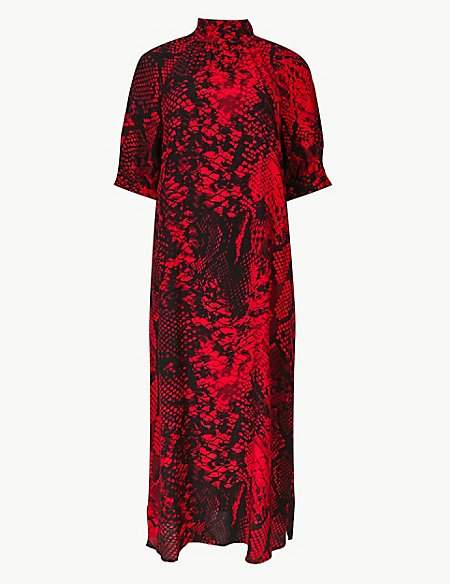 M&S Collection Animal Print Shift Midi Dress