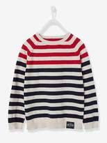 Boys' Striped Jumper - red dark mixed color