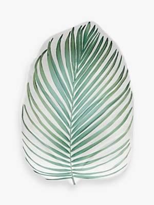 Eddingtons Tropical Leaf Melamine Salad Plate, L23cm, Green