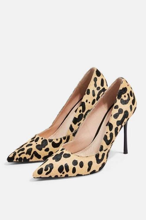Topshop Womens Gigi Court Heels - True Leopard