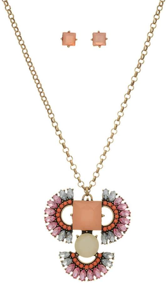 Mimi's Gift Gallery Peach Boho Necklace/set