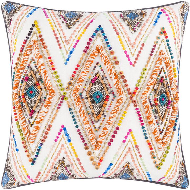 A By Amara A by Amara - Rainbow Diamond Bead Cushion - 45x45cm