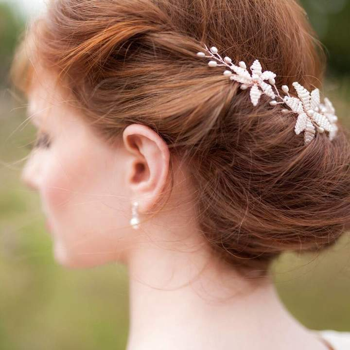 Vivien J 'Jasmine' Flower Wedding Hair Vine