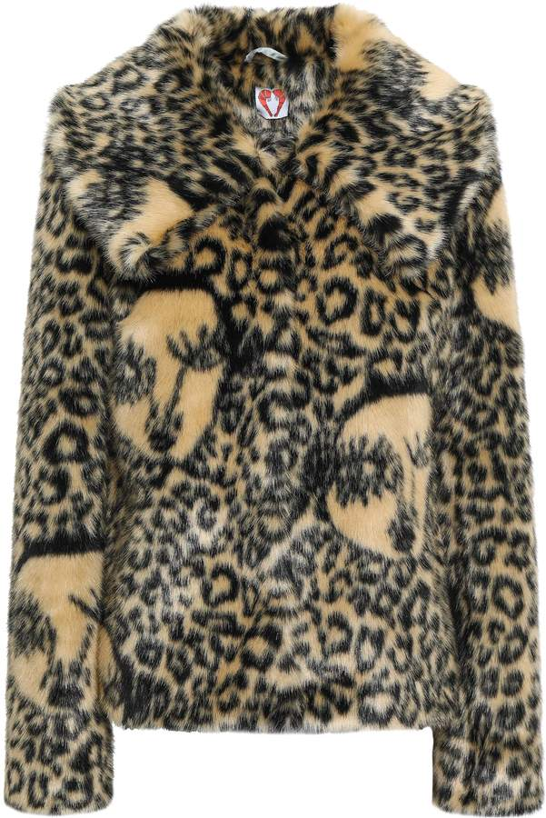 Shrimps Leopard-print Faux Fur Jacket