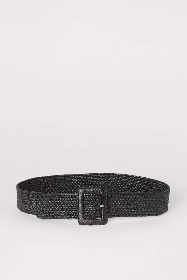 H&M - Braided Waist Belt - Black
