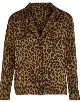 Love Stories Jude Leopard-Print Sateen Pajama Top
