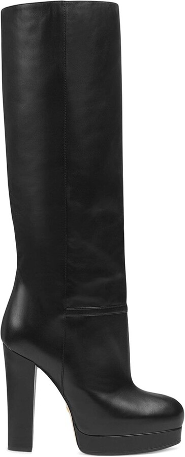 Gucci platform knee length 130mm boots