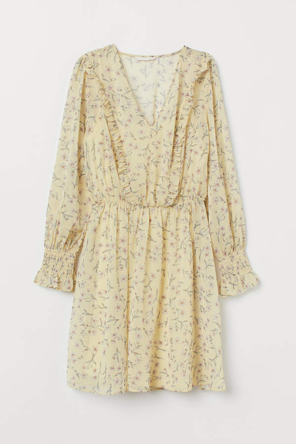 H&M V-neck chiffon dress