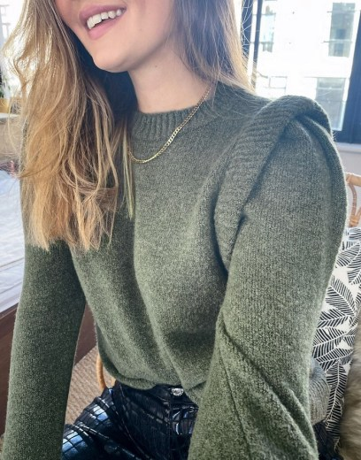 ASOS grey exaggerated shoulder sweater