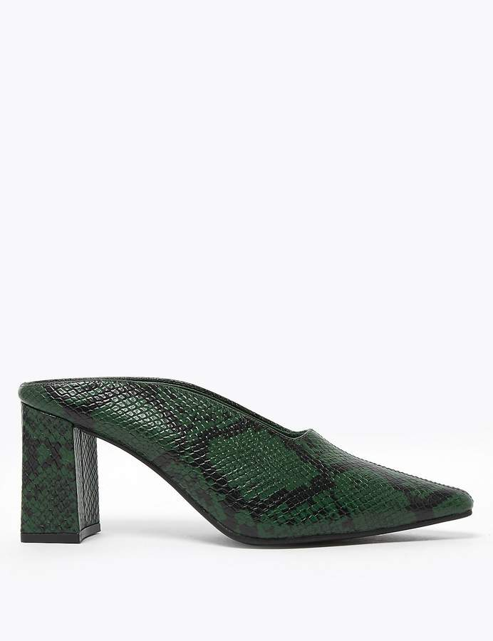 M&S CollectionMarks and Spencer Leather Sqaure Toe Mules shoes