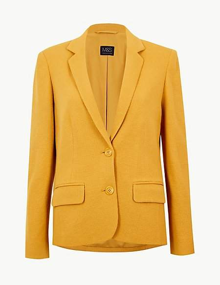 M&S Collection Textured Single Breasted Blazer