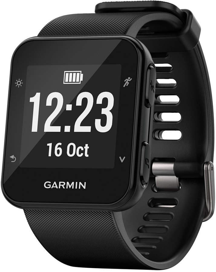 Garmin Unisex Forerunnerandreg; 35 Black Silicone Strap GPS Running Smart Watch 24mm
