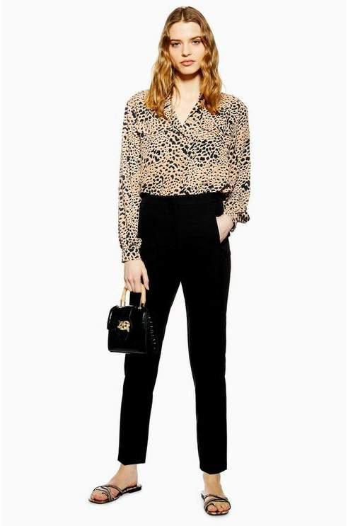 Topshop Womens Black Classic Cigarette Trousers - Black