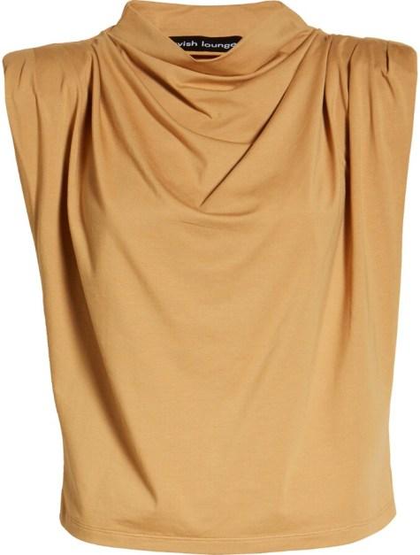 Lavish Alice - yellow mock neck sleeveless tank