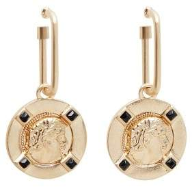 Coin pendant earrings