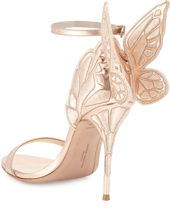Sophia Webster Chiara Butterfly Wing Ankle-Wrap Sandals