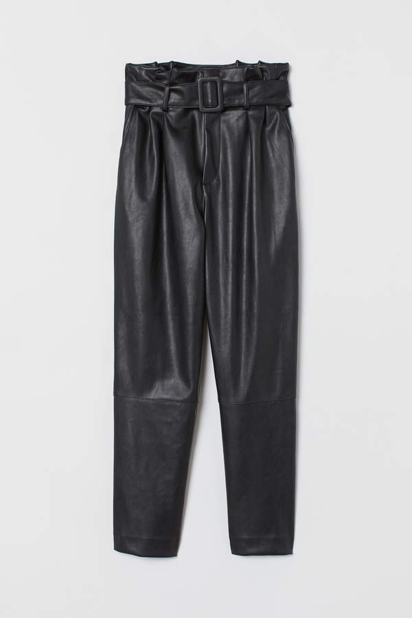 H&M Ankle-length trousers and belt