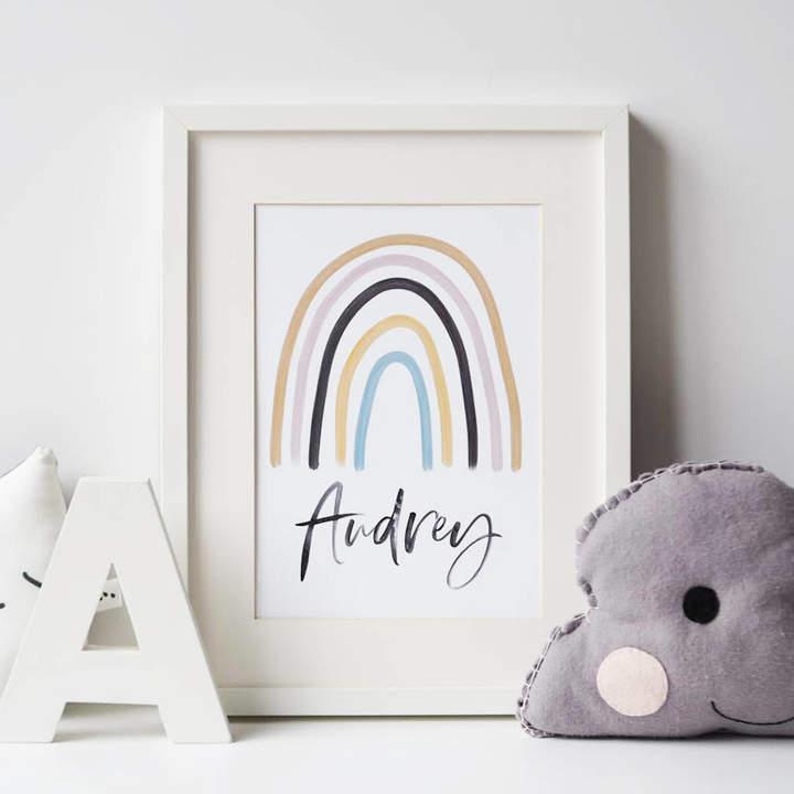 Sweetlove Press Children's Personalised Rainbow Print