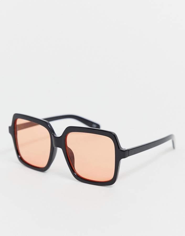 Asos Design ASOS DESIGN 70's square oversized frame fashion glasses