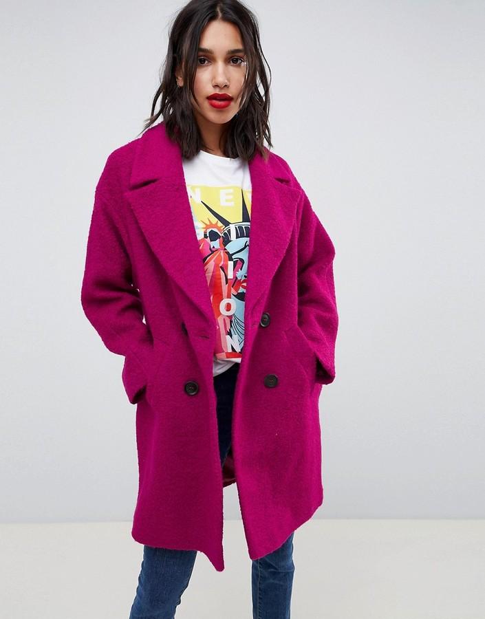 Asos Design ASOS DESIGN double breasted coat in texture