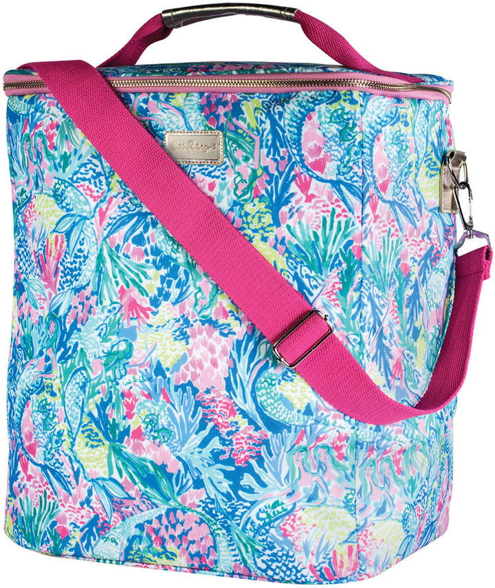 Lilly Pulitzer Mermaids Cove Insulated Wine Carrier