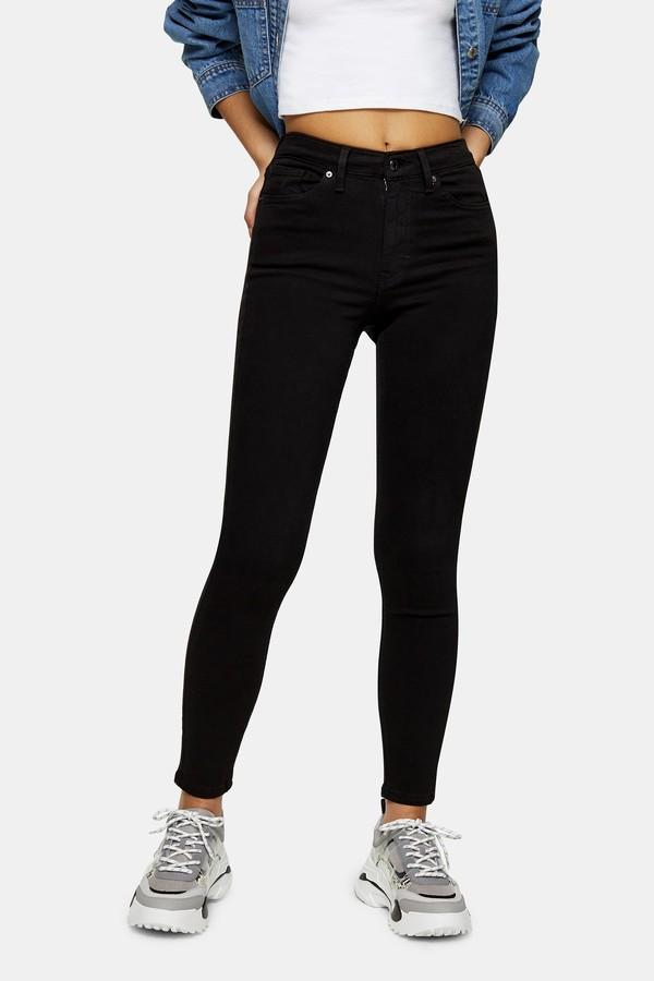 Topshop Womens Black Jamie Skinny Jeans - Black