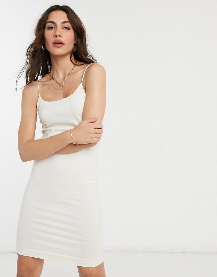 Y.A.S seamless bodycon dress in cream